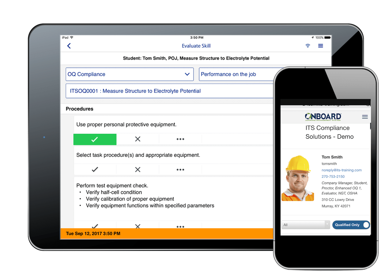 OQ Evaluator | Mobile Evaluator Tool | OnBoard® Connect | ITS